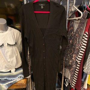 Forever 21 Plus Size Black longline cardigan
